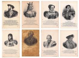 Lot De  46 CPA : Pesonnages Historiques Blanche De Castille, Louis XI, François I Etc. - Voir SCANS - Historical Famous People