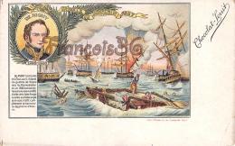 De Rigny Bataille De Navarin 1827 Illustration Chocolat Louit Marin  - 2 SCANS - Uomini Politici E Militari