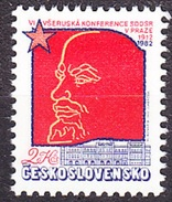 CZECHOSLOVAKIA 1982, Complete Set, MNH. Michel 2647. V. I. LENIN. Good Condition, See The Scans.