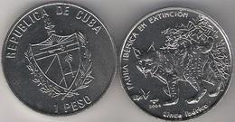 Cuba 1 Peso 2004 Lince Iberico Endangered Species Iberic Animals UNC - Cuba