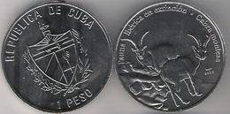 Cuba 1 Peso 2007 Cabra Montesa Endangered Species Iberic Animals UNC - Cuba