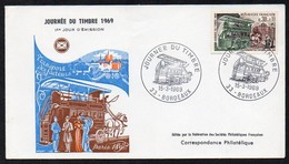 Frankreich  1969  MiNr. 1659   FDC   Tag Der Briefmarke: Briefträgertransport- Omnibus