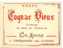 Etiket étiquette Cognac Vieux CH. André - Autres