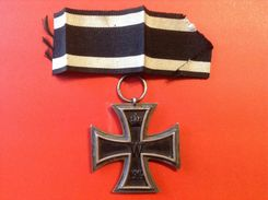 Original Orden An Öse EK II. WW1 1914 Hersteller WILM Mit Bandstück - Allemagne