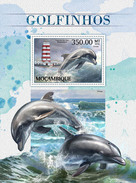 MOZAMBIQUE 2016 - Dolphins S/S. Official Issue
