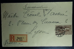 Oberschlesien Registered Cover Mixed Stamps Oppeln To Lyon France