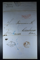Russia: Complete Letter St. Petersburg Königsberg/Bromberg To Arnhem Holland, Aus Russland In Red  Box 1858 - Rusland En USSR