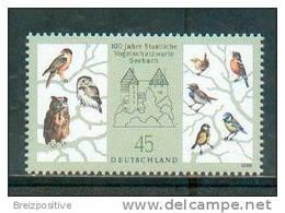 Allemagne Germany 2008 - Protection Des Oiseaux (passereaux Et Chouette) / Bird Protection (sparrows And Owl) - MNH