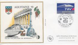 Enveloppe  FDC  Bloc  CNEP   Salon   AQUITAINE  90    BORDEAUX   1990