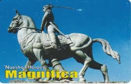 TARJETA DE BOLIVIA DE COTAS DE SIMON BOLIVAR  (MAGNIFICA) CABALLO-HORSE