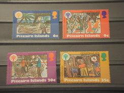 PITCAIRN - 1979 PITTURE NATALE  4 VALORI - NUOVI(++) - Pitcairn