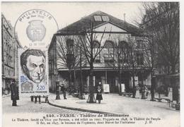 CARTE MAXIMUM    THEATRE DE MONTMARTRE     (sujet Secondaire)