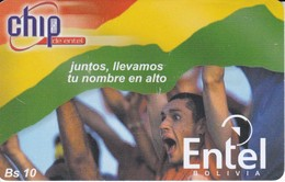 TARJETA DE BOLIVIA CON CHIP DE ENTEL BANDERA BOLIVIA