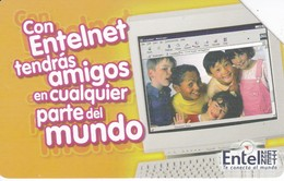 TARJETA DE BOLIVIA DE ENTEL CON UNOS NIÑOS