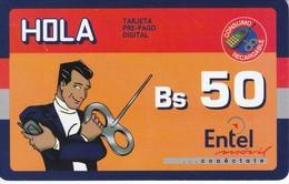 TARJETA DE BOLIVIA DE ENTEL MOVIL BS50 CLUB HOLA