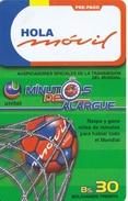TARJETA DE BOLIVIA DE HOLA MOVIL BS30 (FUTBOL-FOOTBALL)