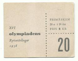 Suède 1956 - Carnet Compétition Hippique Des Jeux Olympique -
