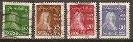 NORVEGE    -    1934 .   Y&T N° 160 à 163 Oblitérés.   Série Complète.