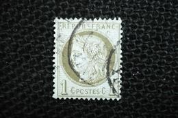 France Ceres 1c  N°50 Varieté  O De Postes Ouvert