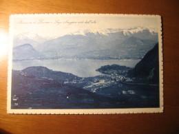 CARTOLINA FORMATO PICCOLO  -  LAVENO E LAGO MAGGIORE VISTI DALL ALTO   -  B - 344 - Varese