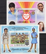 Pfadfinder Japan 1971 Liberia Block 56+94 O 5€ Herz Für Kinder History Rotary Club S/s Blocs Scout Sheets Bf Africa - Scouting