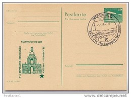 ESPERANTO-TREFFEN DRESDEN DDR P84-48-84 C95 Postkarte Zudruck Sost. 1984 - Esperanto