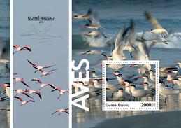 GUINEA BISSAU 2016 - Birds, Flamingo S/S. Official Issue
