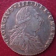 ROYAUME-UNI 6 Pence Georges III Emblème, Type Avec Semée De Coeurs Dans Les Armes De Hanovre 1787 Argent UK SILVER COIN - 1662-1816 : Anciennes Frappes Fin XVII° - Début XIX° S.
