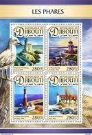 DJIBOUTI 2016 - Lighthouses, Seagull. Official Issue