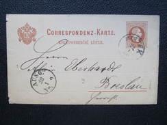 GANZSACHE Mistek - Breslau 1880 //  D*22340 - Briefe U. Dokumente