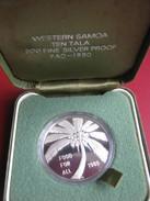 Samoa Sisifo Coconut Palm 1980 10$ Tala Proof Crown Size Silver Coin FAO Food For All Boxed - Samoa