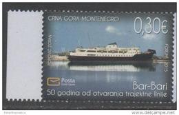 MONTENEGRO, 2015, MNH, SHIPS,  1v - Ships