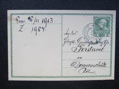 GANZSACHE Hrivice - Domauschitz 1915  ////  D*22360 - Briefe U. Dokumente