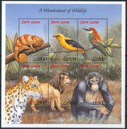 1999 Sierra Leone Wildlife Animali Animals Animaux Set + Block MNH** RR91 - Sierra Leone (1961-...)