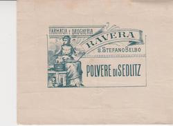 Pubblicità S.Stefano Belbo Cuneo Farmacia Drogheria Ravera Busta - Publicité