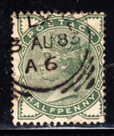 Great Britain Used #78 1/2p Victoria Dated: AU 83