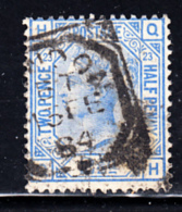 Great Britain Used #82 2 1/2p Victoria Plate #23 Position: QH