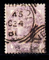 Great Britain Used #88 1p Victoria 14 Dots