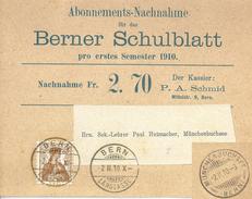 """NN Karte  """"Berner Schulblatt, Bern"""" - Münchenbuchsee            1910"""