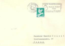"Briefvs  Biel - Bern  (Werbeflagge  ""Uhren Ausstellung La Chaux-de-Fonds""              1932"