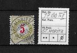 1899-1900 NACHPORTOMARKEN → Ziffermuster Mit Sternen Im Doppelkreis ►SBK-17Gb Type II ST.MORITZ◄ - Portomarken