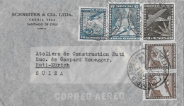 CHILE → Business Letter Frederico Schneiter Santiago De Chile To Switzerland   ►Airmail Stamps 1940◄ - Chili