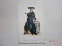 Postcard Cambrian Costumes By Lady Llanover Welsh Girl In The  Costume Of Part Of Gwent My Ref B1799 - Costumes