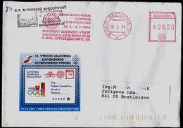 589-SLOVAKIA Cover 10th Anniversary SSOSP=FIPO Member Slovak Olympic Committee Exhibition Of Olympic Philately 1994-2004