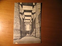CARTOLINA FORMATO PICCOLO  -  KARNAK GREAT TEMPLE OF AMMON  INTERIOR VIEW  -  B -  101 - Luxor
