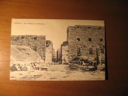 CARTOLINA FORMATO PICCOLO  -  KARNAK  THE TERRACE OF SPHINXES -  B -  106 - Luxor