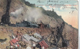 Cpa  2  ** Scans ** An Accident Wreck Of Large  Steam Shovel At Bas Obispo, Panama Canal Postcard - Panama
