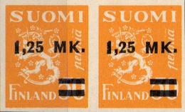 FINLAND 1931 Coat Of Arms Lion OVPT:1,25Mk IMPERF.[non Dentelé,Geschnitten,no Dentado,non Dentellato]