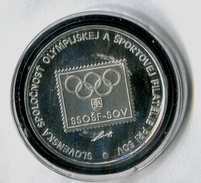 590-SLOVAKIA Prepaid Envelope Philatelic Exhibit.-Olymphilex Qualification For Atlanta 1996 Medal For Exhibit In Bubble