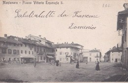 Carte Postale : Montanaro  Piazza Vittorio Emanuele II         Rara - Altre Città